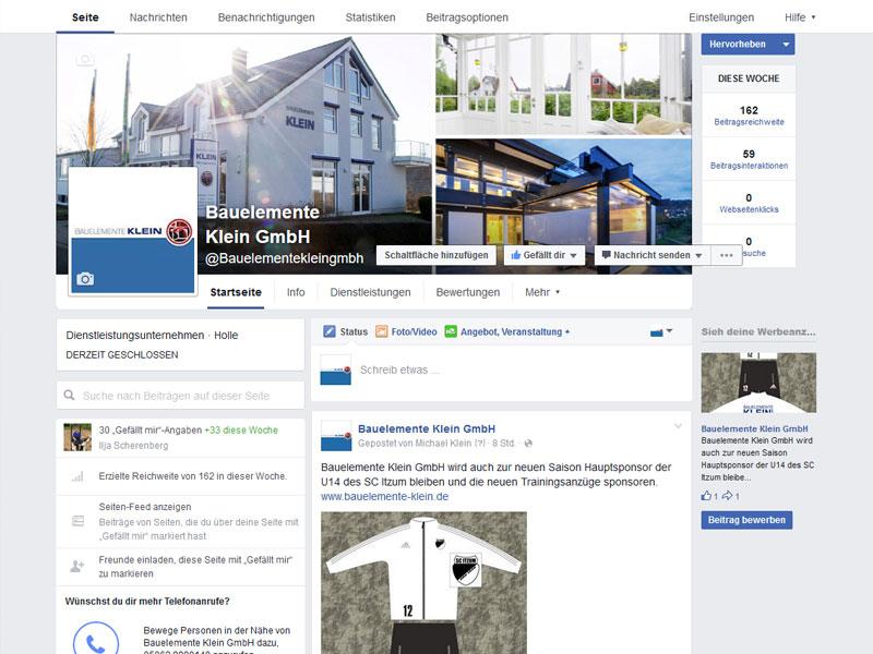 Bauelemente Klein GmbH / Facebook