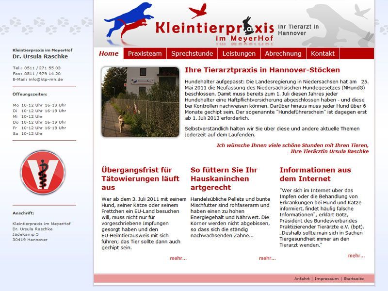 Kleintierpraxis im MeyerHof